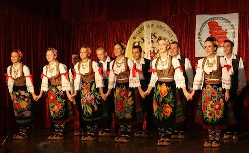 Снимак фолклорног хуманитарног концерта