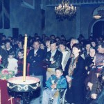 Освећење цркве у Шимановцима, после унутрашње рестаурације, 20. 10. 1990 године.