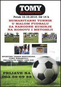 Хуманитарни турнир у малом фудбалу за народне кухиње на КиМ