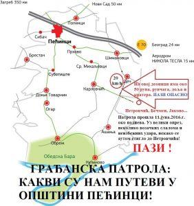 ГРАЂАНСКА ПАТРОЛА-КАКВИ СУ НАМ ПУТЕВИ У ОПШТИНИ ПЕЋИНЦИ