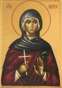 Преподобна Петка – Параскева, Света Петка  27. октобар