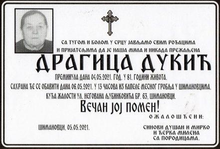 05. мај 2021. година - опело Дукић