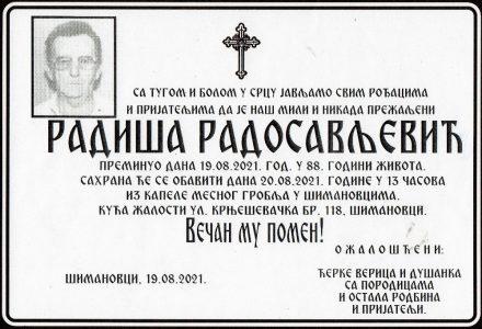 19. август 2021. година - опело Радосављевић